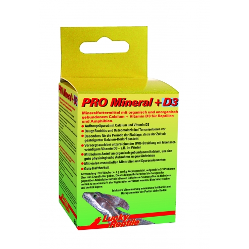 Lucky Reptile PRO Mineral + D3 60g