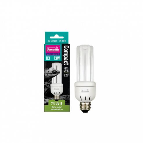 Arcadia D3 Compact Reptile Lamp 13W 7.0 UVB